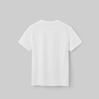 HLA海澜之家短袖T恤男2019夏季新品简约字母款圆领舒适短T男款HNTBJ2R105A米白花纹(A5)170/88A(48)