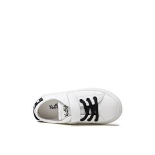 意尔康童鞋2019春季新款女童小白鞋中大童儿童休闲运动鞋男童板鞋ECZ9155662 黑色 28