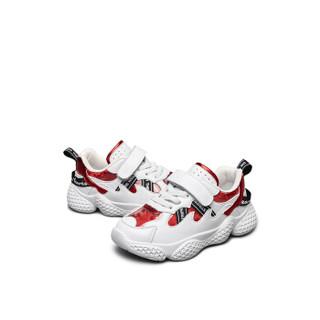 意尔康童鞋男童鞋子儿童运动鞋2019新款中大童单鞋ins超火老爹鞋ECZ9158638 红色 33