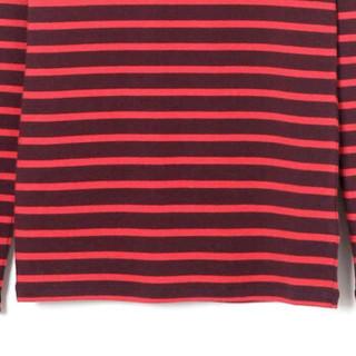 Gap 盖璞 女装长袖T恤打底衫 圆领条纹柔软莫代尔女士内搭上衣  352725