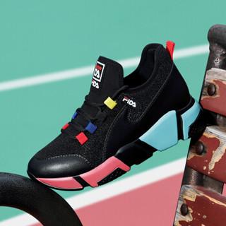 centenary 百年纪念 韩版时尚平底低帮系带拼色运动休闲鞋 1886 黑红 40
