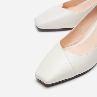 hotwind 热风 H18W9511 女士时尚单鞋 08杏色 36