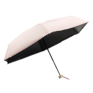 名创优品(MINISO)雨伞自营男女士太阳折叠遮阳欧式晴雨防紫外线大防晒五折迷你两用学生超轻藏青色双人户外