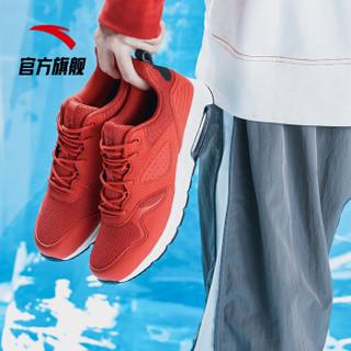 ANTA 安踏 男鞋2019新款男子半掌气垫缓震休闲鞋运动训练鞋 11917775-4 大学红/象牙白/黑 6.5(男39)