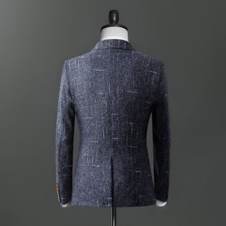 俞兆林(YUZHAOLIN)西服 男士时尚职业商务正装西服外套4016-1-1606蓝色L