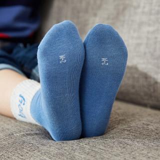 猫人儿童袜子棉纱男童女童袜棉袜学生中筒宝宝3-16岁四季袜