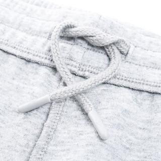 鸿星尔克(ERKE)童装女童裤子学生针织儿童运动长裤休闲卫裤 64219157039 亮浅花灰 140