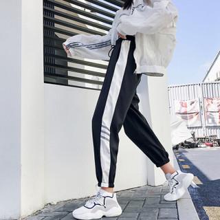 城加(CITYPLUS) 2019新款原宿风运动裤韩版学生宽松百搭束脚裤潮CWKX191102黑色M