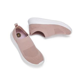 CAMEL 骆驼 女士 休闲透气织物套脚圆头休闲鞋 A912266150 粉色 40