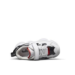 意尔康童鞋男童鞋子儿童运动鞋2019新款中大童单鞋ins超火老爹鞋ECZ9158638 黑色 32