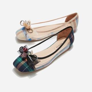 hotwind 热风 H24W9521 女士时尚单鞋 37花格子 39