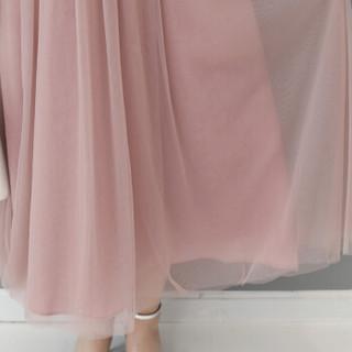 丝柏舍春装新款女装时尚圆领无袖收腰气质网纱拼接百褶裙 S81R0834LA26L 粉色 L