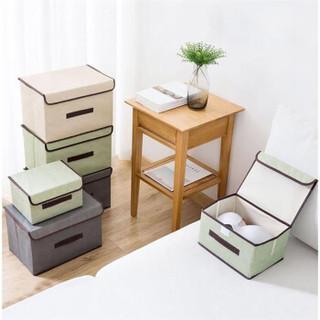 雯萱 收纳箱布艺可折叠收纳箱儿童玩具收纳盒整理箱二件套