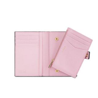 FURLA 芙拉 女士 牛皮剖层革粉色 BABYLON系列 S号 中长款钱包钱夹 979078