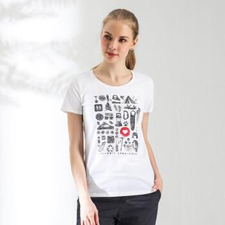 Columbia 哥伦比亚 T恤 户外女款印花棉质短袖T恤 AR1103100 L