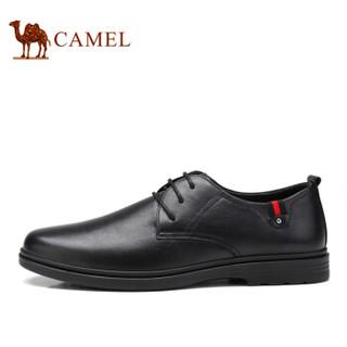CAMEL 骆驼 牛皮系带男士商务休闲皮鞋 A912247490 黑色 43