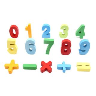 丹妮奇特 Dan Ni Qi Te 拼图儿童手抓板玩具幼儿数字立体拼板1-2-3岁4男孩女孩宝宝启蒙早教积木CDN-7037