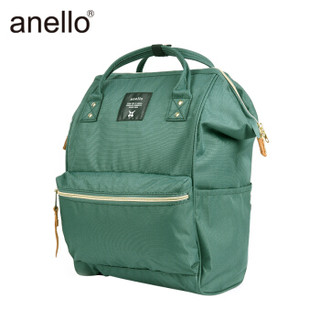 anello 阿耐洛 日本潮男女离家出走小号手提双肩背包B0197B深绿色