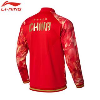LI-NING 李宁 套装瑜伽健身运动户外跑步训练休闲开衫外套上衣 AWDN937-2 M码 男款 样品红