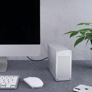 奥睿科(ORICO)磁盘阵列柜usb3.0硬盘柜SATA串口全铝台式机外置盒RAID柜 3.5英寸Type-c双盘位 WS200RC3 银