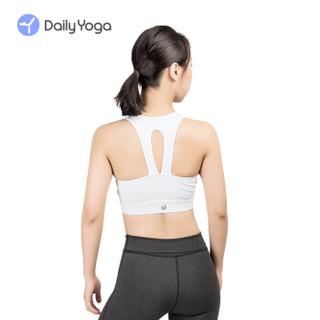每日瑜伽 Daily Yoga 新款运动内衣 浅月跑步防震瑜伽健身bra 镂空美背紧身速干瑜伽内衣 夜空黑 XL码