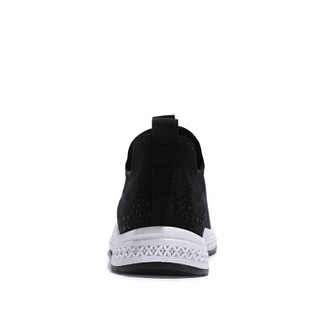 Semir 森马 时尚轻便潮流舒适系带百搭韩版飞织运动休闲鞋男  219120402 黑色 43码