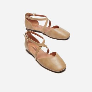 hotwind 热风 H33W9505 女士时尚单鞋 03米色 38