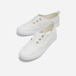 hotwind 热风 女士时尚帆布鞋 H14W9502 04白色 38