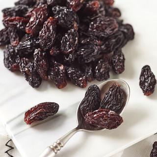 楼兰蜜语 休闲零食 蜜饯果干 带籽大粒葡萄干 黑香妃280g/罐