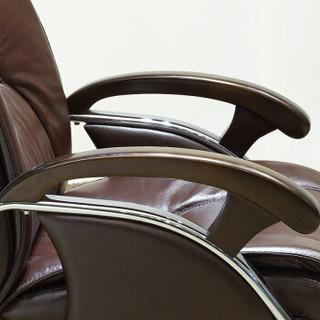 金海马/kinhom 电脑椅 办公椅 皮艺老板椅 人体工学椅子 棕色 6676-6861