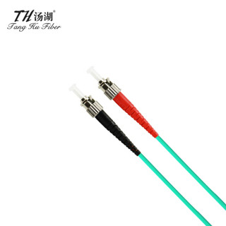 汤湖 TH-W115 电信级光纤跳线 ST-ST 3米万兆多模双芯光纤尾纤 收发器尾纤OM3光纤线