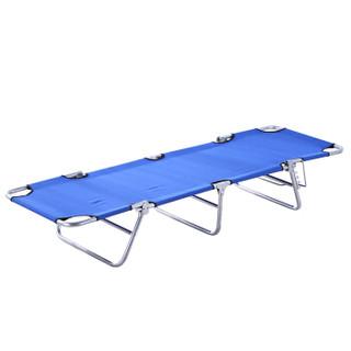 朗福轩 户外 折叠床 单人办公室午睡午休床躺椅 医院陪护行军床 LFX-07蓝色