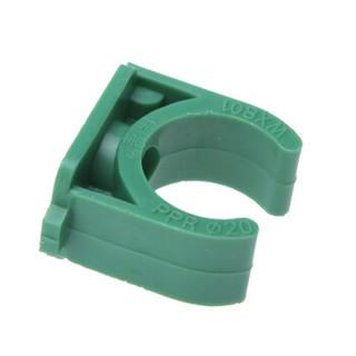 伟星 绿色环保PPR25 6分配件 管材管件 PPR水管配件水暖管件 管卡25/6分 绿色(20个/袋)