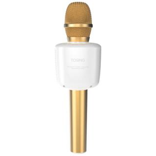 途讯 015 手机麦克风全民k歌神器 唱吧 无线蓝牙 喇叭 声卡 主播直播话筒 金色