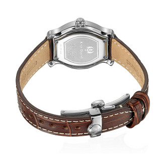 艾米龙(Emile Chouriet)手表当代奢华系列 棕色牛皮带石英女表56.1138.L.A