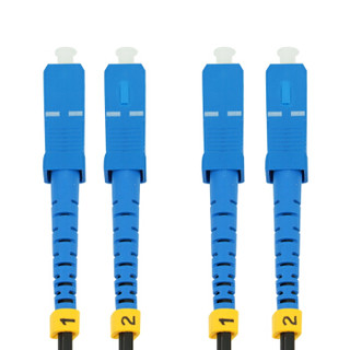 星遥博(Cinyobo)CYB-GX-T4400 SC接头单模光纤皮线光缆 室外2芯3钢丝光纤跳线 收发器光猫交换机线 400米