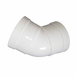 语塑 PVC排水管材管件 PS0704   45度弯头    DN160  工地工程款    5个装 CCJC