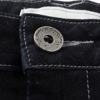 ERQ牛仔裤女紧身小脚长裤2019春新款中腰弹力显瘦牛仔铅笔裤子 深蓝色 26