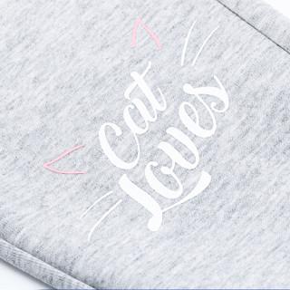 鸿星尔克(ERKE)童装女童裤子学生针织儿童运动长裤休闲卫裤 64219157039 亮浅花灰 130