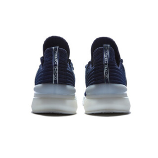 QIAODAN 乔丹 运动鞋潮流时尚耐磨轻便一脚蹬跑步鞋男 XM1590227 学院蓝/象牙色 44.5