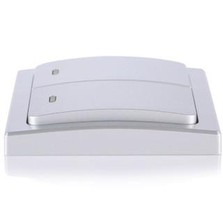 领普科技(linptech)无线遥控开关面板 自发电单联智能学习型遥控器家居220V单路 K2单开开关银色