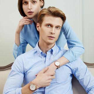 威利默克(Welly Merck)情侣手表一对WM瑞士简约时尚男女情侣表对表防水WM002WM