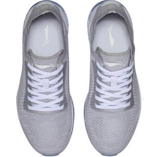 LI-NING 李宁 绝影女子全掌气垫一体织减震跑鞋 ARHN078-1 标准白/微晶灰 36
