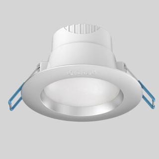 欧普照明(OPPLE)十只装led筒灯桶灯客厅吊顶嵌入式洞灯孔灯 3W银灰PC暖白光4000K 开孔7-8厘米