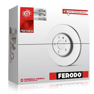 菲罗多 Ferodo 刹车盘后盘 路虎神行者2(L359)3.2 2.0Si4 2.2SD4 2.2TD4 单只装 DDF1578C-1-D 厂商直送