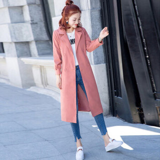 BANDALY 2019春季女装新品风衣女中长款韩版气质收腰百搭薄款外套 HZCZ2088-Q211 红色 L