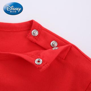 迪士尼 Disney 自营童装女童中小童时尚针织长袖T恤上衣2019春夏新款 DA9169D3E02 鲜红 80