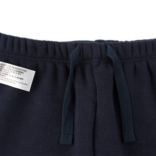 Gap旗舰店 童装 婴儿加绒针织裤卫裤400006 海军蓝色 12-18M