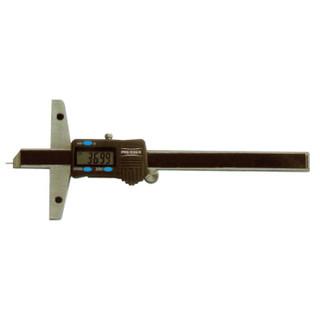 德国派尔沙(PREISSER)1268 891 数显深度卡尺     0-200mm / 0.01mm 钢制