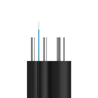 博扬(BOYANG)BY-SC/SC-SW100M电信级皮线光纤跳线 100米SC-SC室外单模 1芯3钢丝低烟无卤网线光纤线